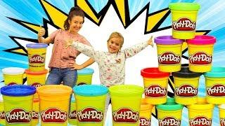 Игры для детей #PlayDoh Лепим для #ЛитлПони Мебель и Пиццу 🍕 Набор ПЛЕЙ ДО Пластилин Видео игрушки