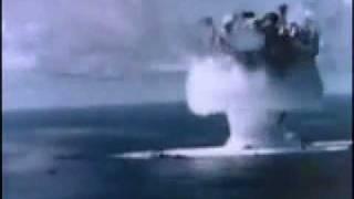 Atomic bomb test under water