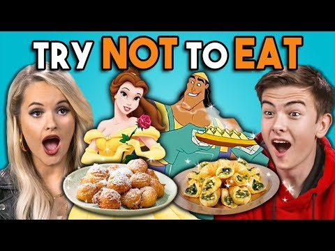 Try Not To Eat Challenge - Disney Food | People Vs. Food