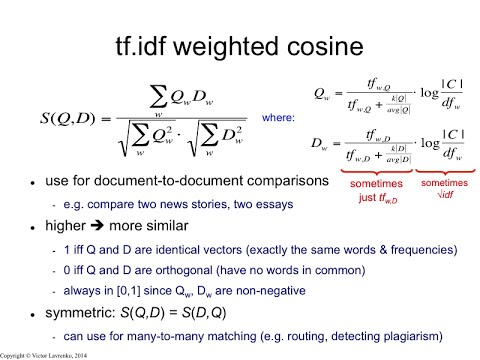 IR3 12 Cosine similarity with tf-idf weights