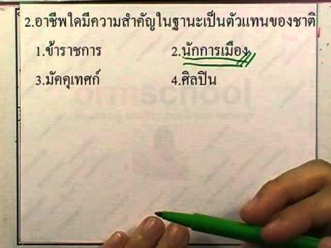 ข้อสอบเข้าม.1 : สังคม ชุด01 ข้อ02