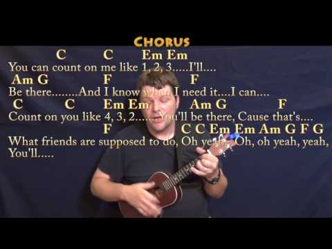 Count On Me (Bruno Mars) Ukulele Cover Lesson In C With Chords/Lyrics