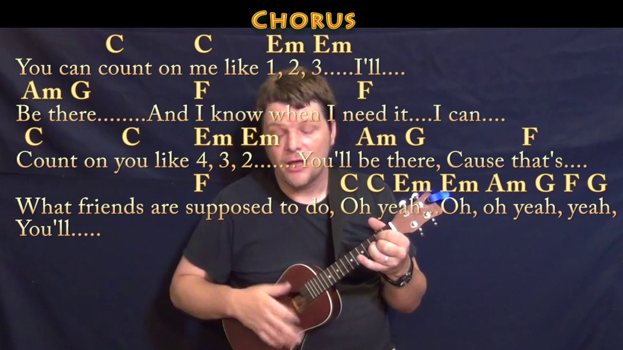Count On Me Bruno Mars Ukulele Cover Lesson In C With Chords Lyrics Youtube
