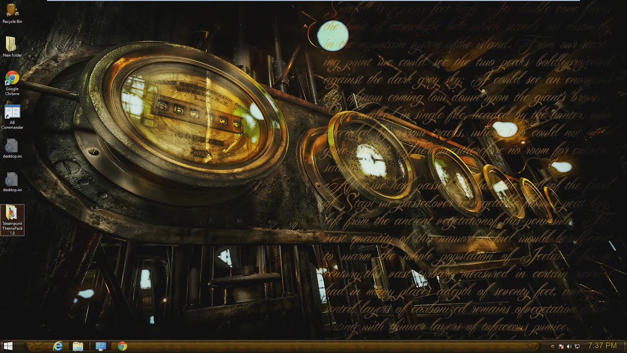 Download 3d Live Wallpaper For Windows 7 Steampunk Bioshock Theme For Windows 7 8 8 1 Youtube