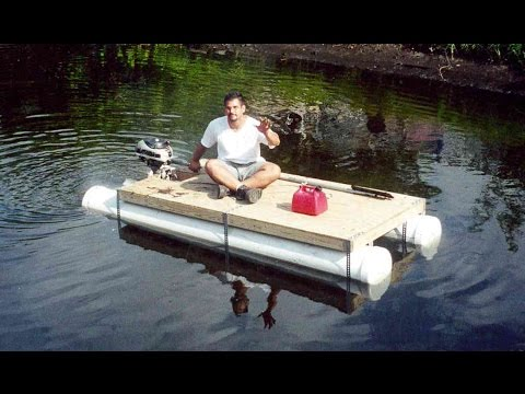 DIY PVC pipe pontoon boat - HomeMade boat - in 1 day