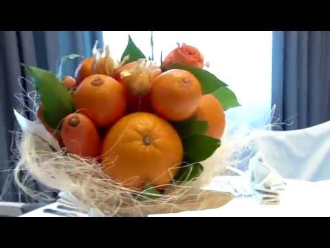 Букеты из овощей и фруктов. Мастер-класс.