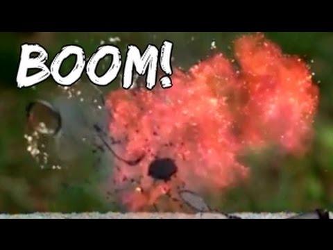 Magic Lithium Battery Explosion - BOOM!   Slow Mo Lab
