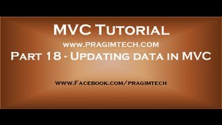 Part 18  Updating data in mvc