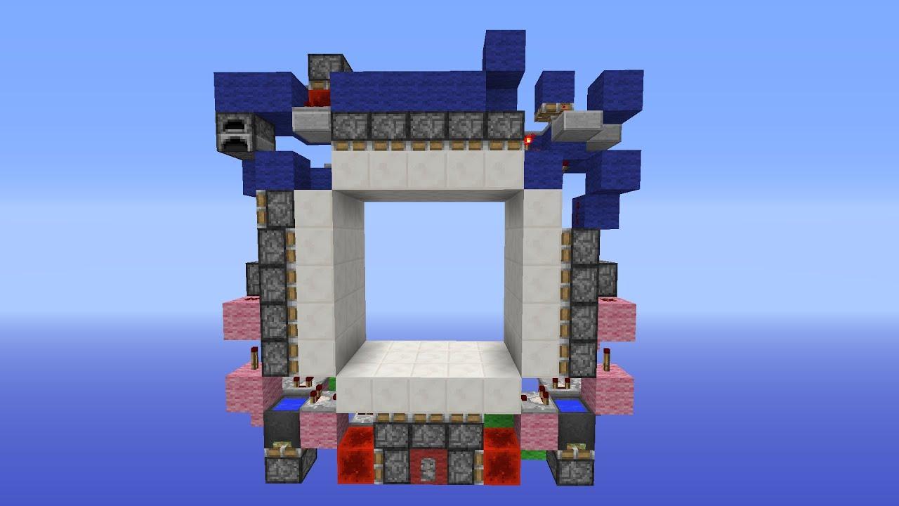Minecraft Tutorial Ultra Compact 5x5 Etho Door 396 Blocks W Sidney600 YouTube