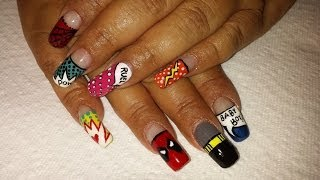My comic book nail designs. Thumbnail