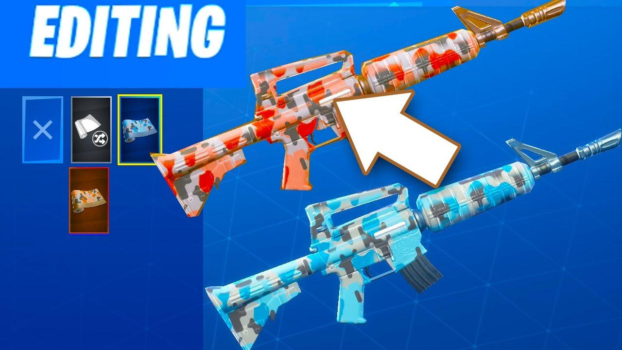 how to get fortnite weapons skins