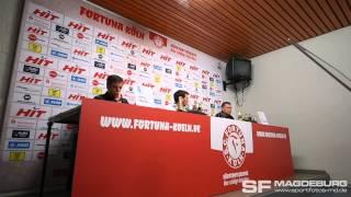 Pressekonferenz - SC Fortuna Köln gegen 1. FC Magdeburg 2:1 (2:1) – www.sportfotos-md.de