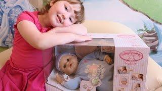 Кукла Бэби Аннабель братик с мимикой распаковка и обзор (Zapf Creation Baby Annabell)