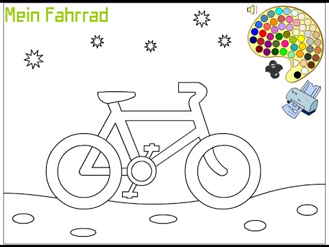 Bicycle Coloring Pages For Kids Bicycle Coloring Pages Youtube