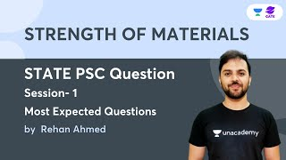 Strength Of Materials I State Psc Question Session - 1   Most Expected Questions   Rehan Ahmed