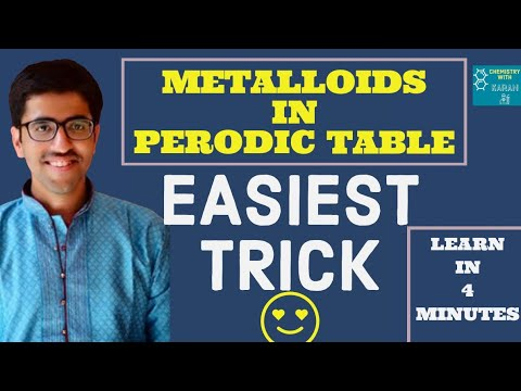 trick to easily remember themetalloids in the periodic table chemistry with karan - Periodic Table Metalloids