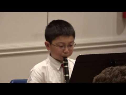 Aaron plays Clarinet  Sonatina by Philip Gordon 1st movement 00051