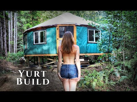 building-an-off-grid-yurt-in-the-forest-|-full-timelapse---start-to-finish