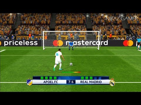 APOEL FC vs REAL MADRID | UEFA Champions League 2017-2018 | Penalty Shootout | PES 2017 Gameplay