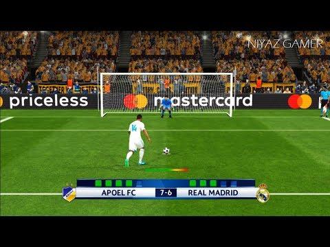 APOEL FC vs REAL MADRID | UEFA Champions League 2017-2018 | Penalty Shootout | PES 2017 Gameplay