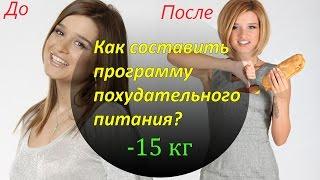 Как составить меню похудательного питания Галина Гроссманн