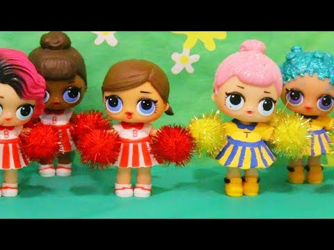 Toys for Kids L.O.L. Surprise Dolls Cheerleader Competition - Family Fun Playtime & Roleplay w/ LOL