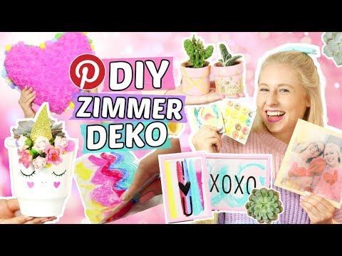 5 geniale Pinterest ZIMMER DEKO DIYs 😍 Tumblr Zimmerdeko selber machen 🦄 Einhorn DIYs