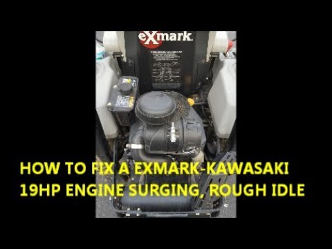How to fix Exmark-Kawasaki engine surge and rough idle