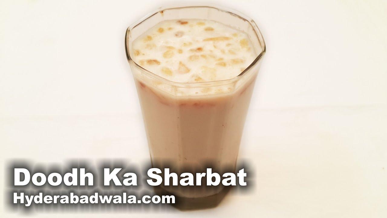 Muharram Special Doodh Ka Sharbat Recipe Video How To Make Makarimshirt Coklat Susu Hyderabadi Milk Juice