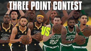 2019 Golden State Warriors vs 2019 Boston Celtics Three Point Contest! | NBA 2K18 Challenge |