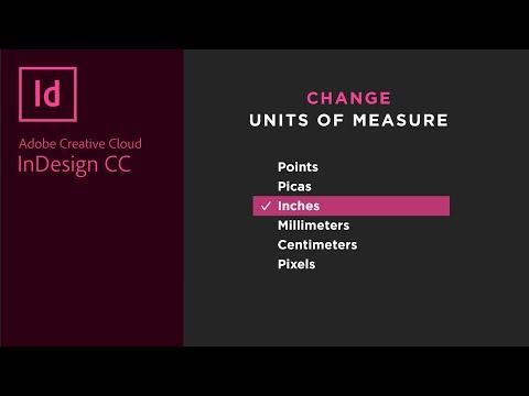 Change Units of Measure in Adobe InDesign (points, pixels, inches, cm, mm, picas)