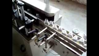 Sticker Labelling Machine - with Hot Foil Printer , Wrap round Labeler machine