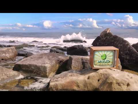 Download Full After Effects Project Files Beach Series vs Retro TV pack