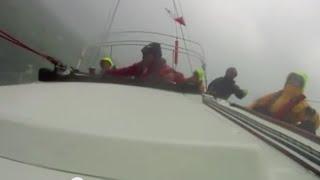 Wild Squall Storm Sailing Yacht Race, Sleet, Hail, Snow, Thunder!