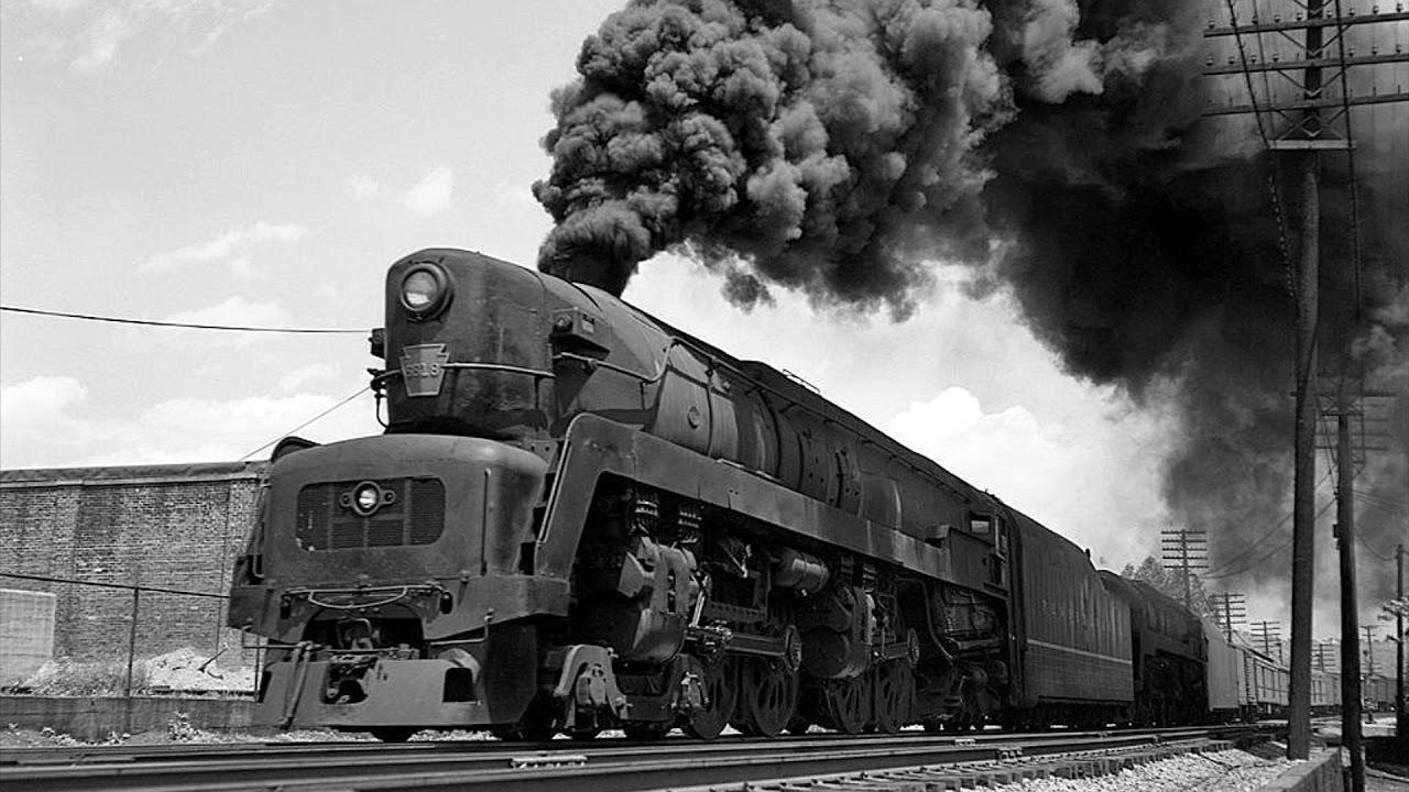 PRR 4-4-4-4 T-1 Steam Locomotive Original Sound!