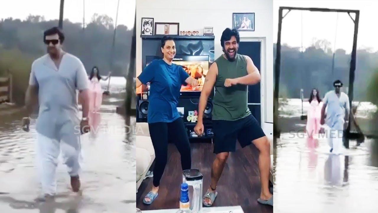 Chiranjeevi Sarja Stylish Walking On Water | Recent Video | Meghana Raj | Dhruva Prerana | Arjun