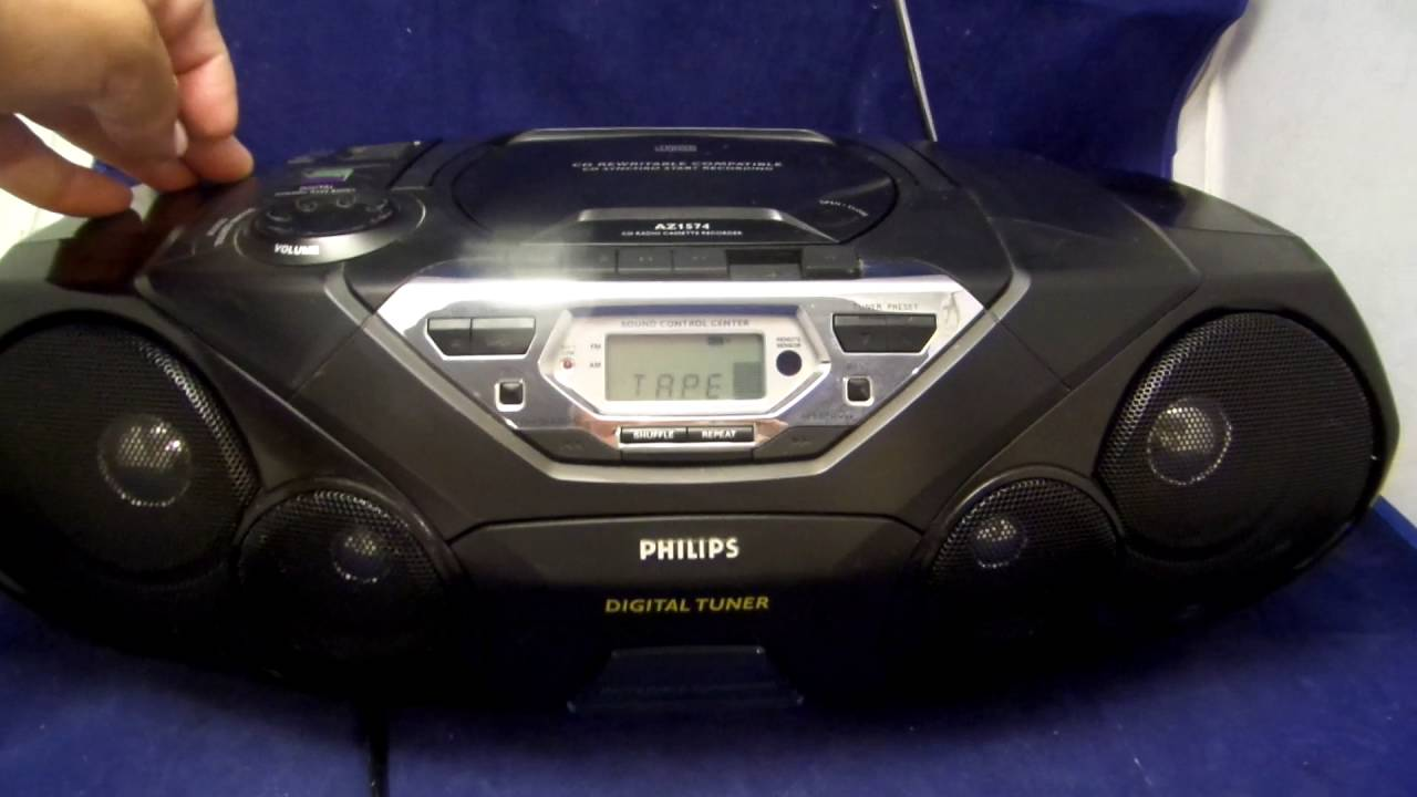 Philips AZ780//12- Reproductor de Radio-CD Negro CD, MP3-CD, USB, UKW