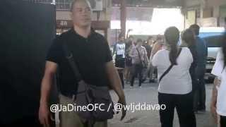 JaDine with Jack Reid arrival at Tagum City