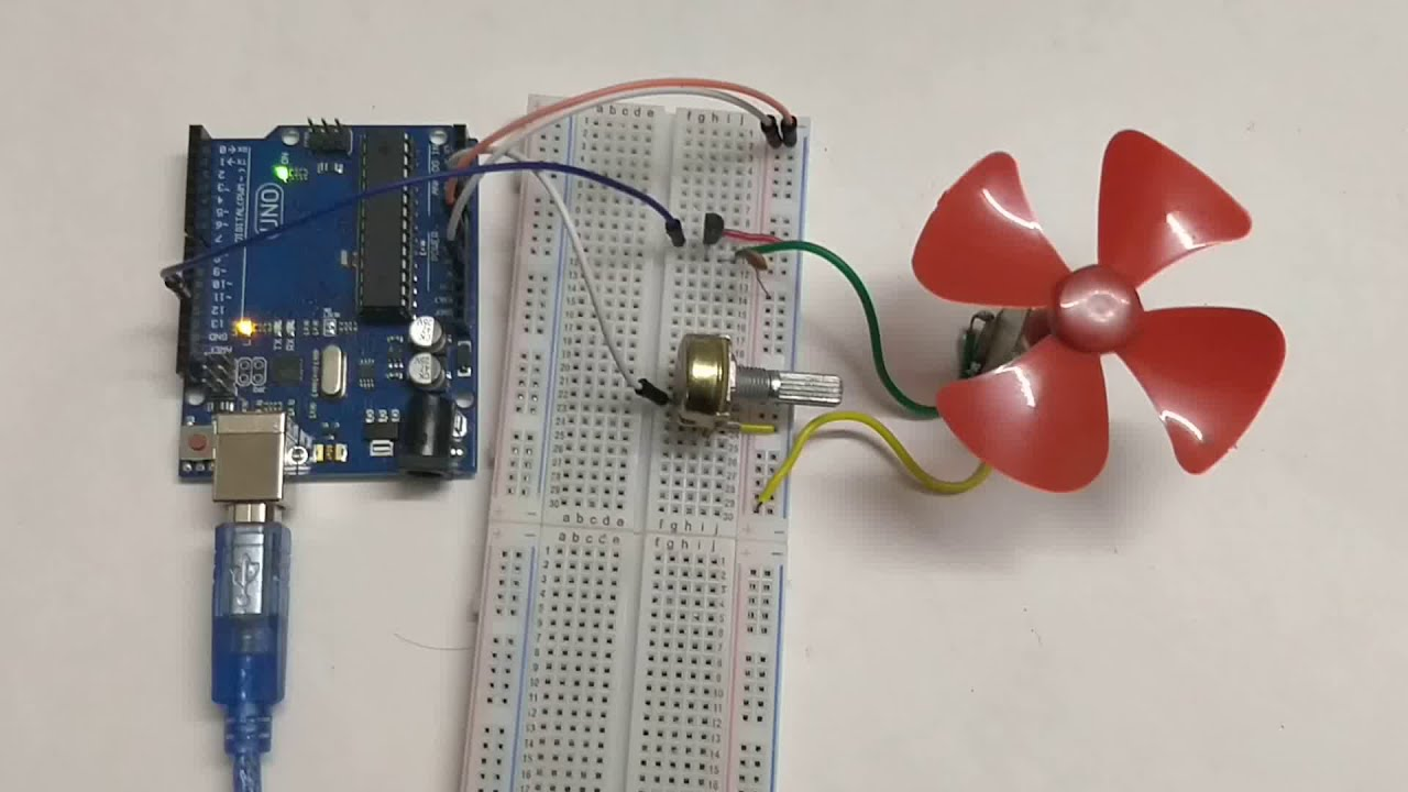 DC Motor Control using Arduino and Potentiometer