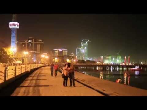 Baku 2015. Nightlife. Time-lapse
