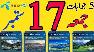 17 September 2021 My Telenor Today Questions | Telenor Questions Today | Test Your skills My Telenor screenshot 3