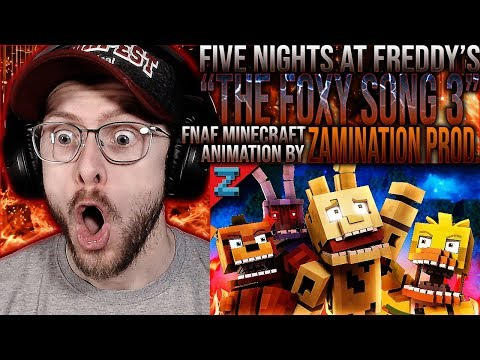 """Vapor Reacts #1047   THE FOXY SONG 3 MINECRAFT ANIMATION """"Don't Forget"""" By ZAMination Prod. REACTION"""