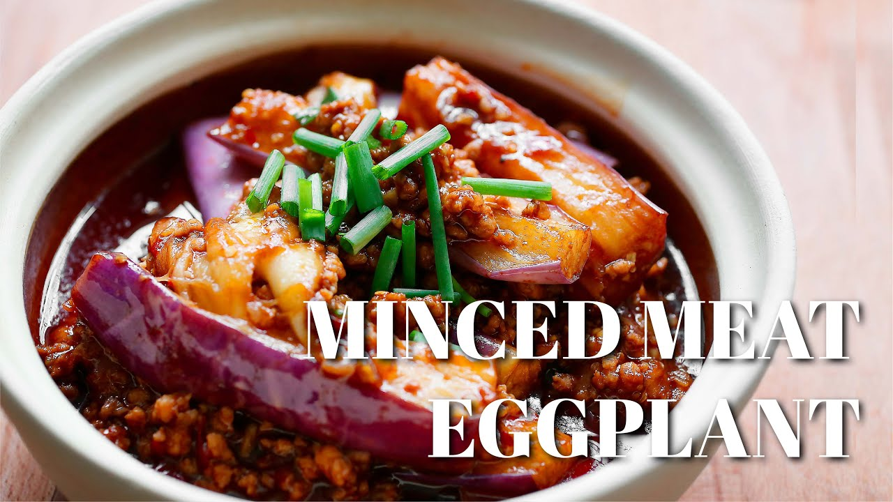 Eggplant with minced pork and salted fish youtube forumfinder Images