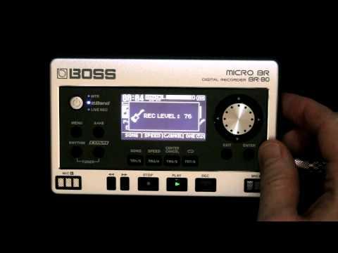 Boss Micro BR-80 - Eband Backing Jam Band Demos