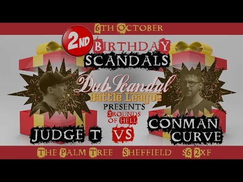 JUDGE T VS CONMAN CURVE | DubScandal 3ROH Rap Battle