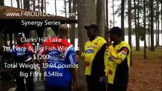 8 54lb bass rod benders clarks hill lake f4r 1st place synergy series 29march2014