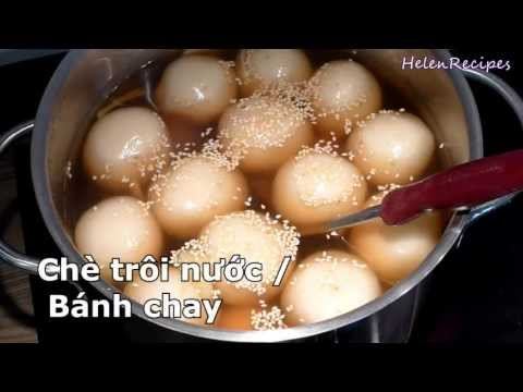 How to make Glutinous Rice Balls - Che Troi Nuoc / Banh Troi / Banh Chay