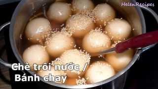 How to make Glutinous Rice Balls - Che Troi Nuoc / Banh Troi / Banh Chay