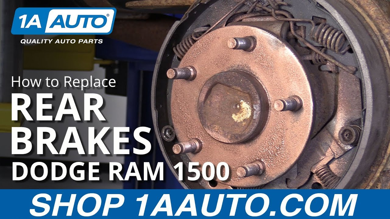 How To Replace Rear Brakes 94 02 Dodge Ram 1500 Youtube