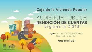 RENDICION CUENTAS VIGENCIA 2015 RODRIGO LARA BONILLA